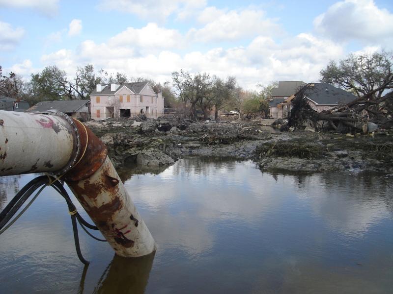new orleans submerged residental neighborhood
