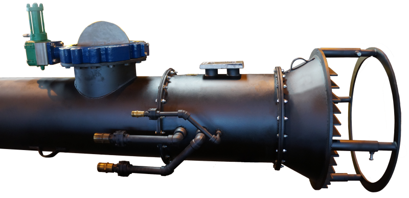 The Two-way Hydraflo water pump. Capable of creating movement in static water environments, such as mud or sludge, filtering out the minerals and other debris, then discharging the water.