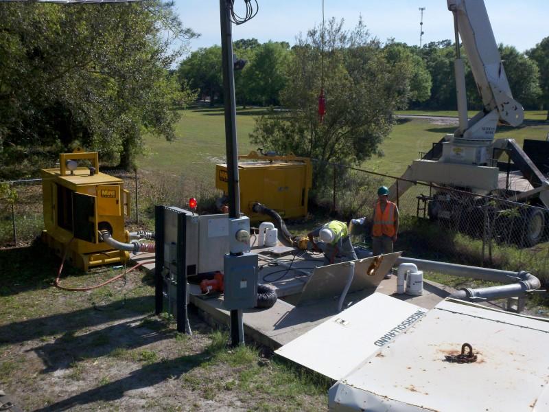 silent partner sewer bypassing big pump rentals