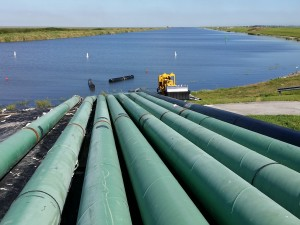 Overview of the pipeline leading into Lake Okeechobee